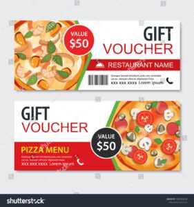 Discount Gift Voucher Fast Food Template   Business/finance regarding Pizza Gift Certificate Template
