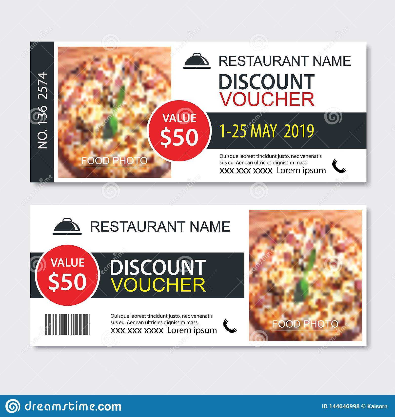 Discount Gift Voucher Fast Food Template Design. Pizza Set Within Pizza Gift Certificate Template