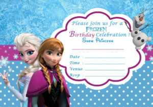 Disney Frozen Birthday Party Invitation Template throughout Frozen Birthday Card Template