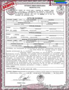 Divorce Certificate Mexico inside Mexican Marriage Certificate Translation Template