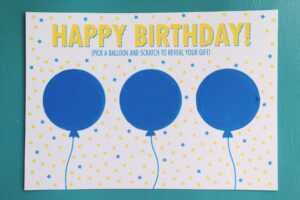 Diy: Birthday Scratch Off Card + Free Printable | Alexandra intended for Scratch Off Card Templates