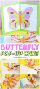 Diy Butterfly Pop Up Card With A Template – Easy Peasy And Fun pertaining to Diy Pop Up Cards Templates