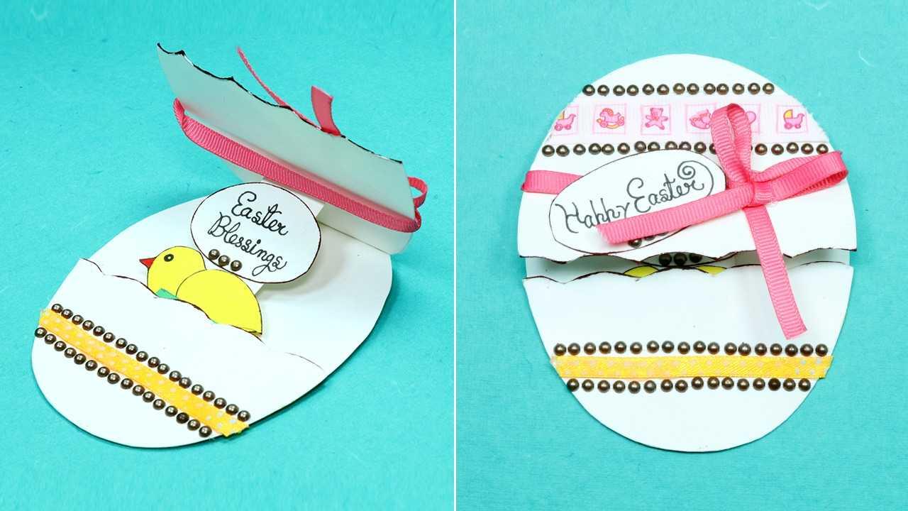 Diy Handmade Easter Card - Pop Up Easter Egg Card Throughout Easter Card Template Ks2