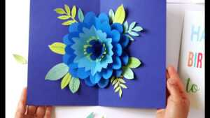 Diy Happy Mother's Day Card Pop Up Flower (Free Templates!) for Diy Pop Up Cards Templates