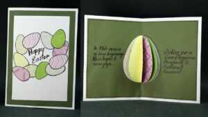 Diy Pop Up Easter Card- How To Make Easter Egg Pop Up Card Easy intended for Easter Card Template Ks2