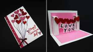 Diy Valentine Card | Handmade I Love You Pop Up Card For Valentine's Day |  Anniversary Card For I Love You Pop Up Card Template