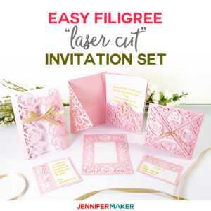 "Diy Wedding Invitation Templates – Free ""laser Cut"" Set inside Free Svg Card Templates"