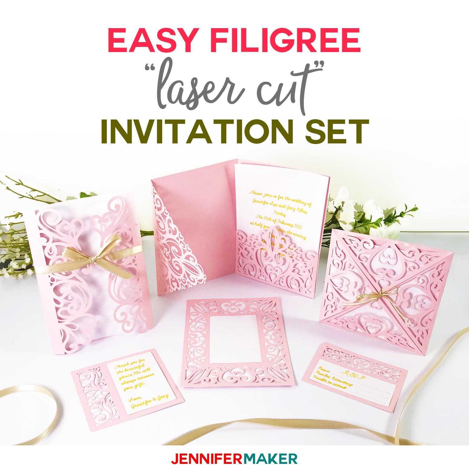 "Diy Wedding Invitation Templates - Free ""laser Cut"" Set Inside Free Svg Card Templates"