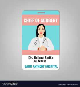Doctor Id Card for Hospital Id Card Template