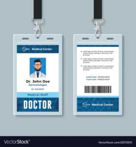Doctor Id Card Medical Identity Badge Design in Hospital Id Card Template