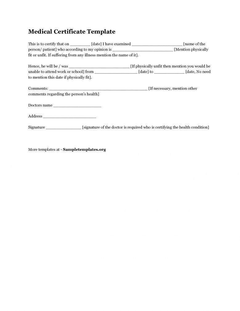 Doctor's Certificate Template Australia Australian Doctors With Australian Doctors Certificate Template