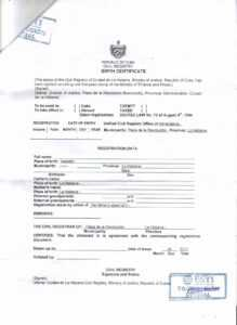 Document Translation – Cubacityhall for Marriage Certificate Translation Template