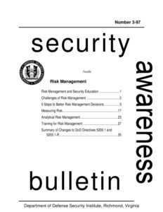 Dod Security Institute Security Awareness Bulletined with Dd Form 2501 Courier Authorization Card Template