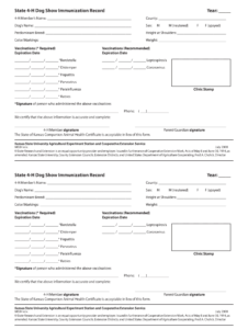 Dog Vaccination Record Printable Pdf – Fill Online throughout Dog Vaccination Certificate Template