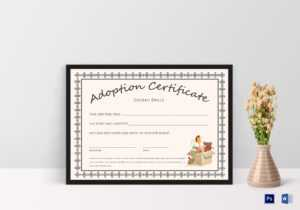 Doll Adoption Certificate Template for Child Adoption Certificate Template