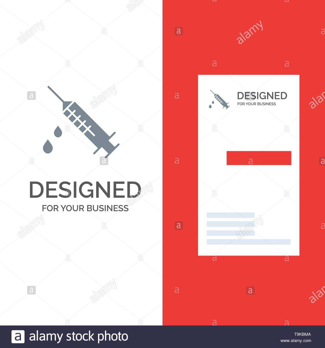 Dope, Injection, Medical, Drug Grey Logo Design And Business Within Dope Card Template