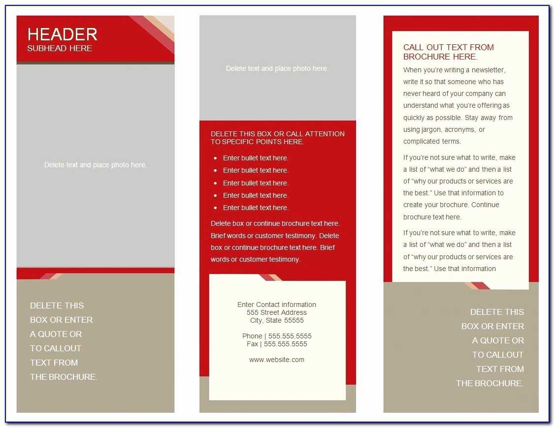 Double Sided Brochure Template   Marseillevitrollesrugby In 6 Sided Brochure Template