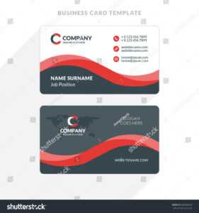 Double Sided Business Card Template Illustrator ] – Adobe throughout Double Sided Business Card Template Illustrator