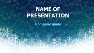 Download Free Deep Snow Powerpoint Template And Theme For for Snow Powerpoint Template