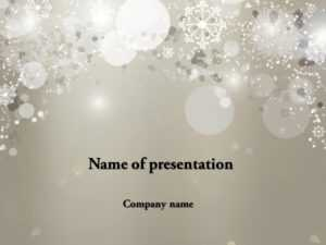 Download Free Falling Snow Powerpoint Template For Presentation pertaining to Snow Powerpoint Template