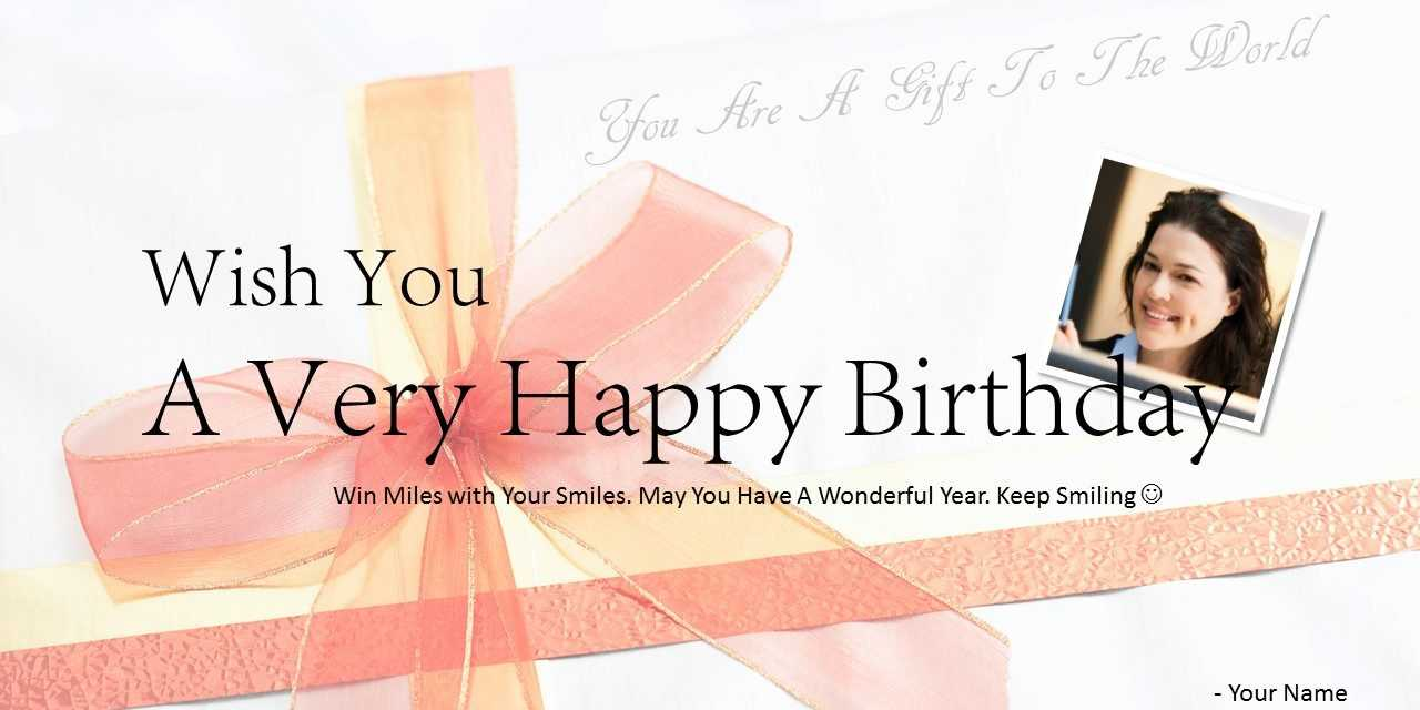 Download Free Happy Birthday Powerpoint Template Card Inside Greeting Card Template Powerpoint