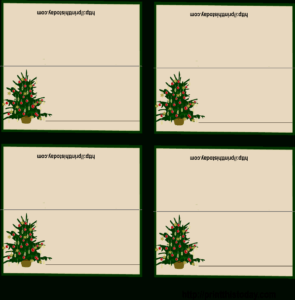 Download Free Printable Christmas Place-Cards Regarding pertaining to Free Place Card Templates Download