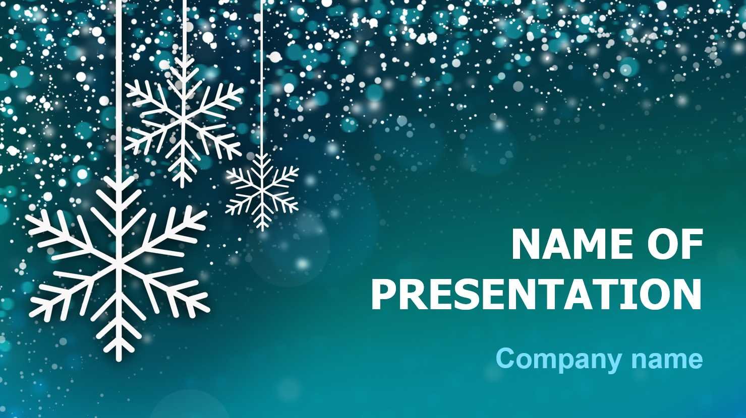 Download Free Snowing Snow Powerpoint Theme For Presentation For Snow Powerpoint Template