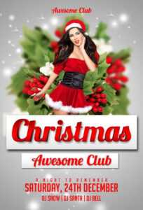 Download The Christmas Free Psd Flyer Template For Photoshop in Christmas Brochure Templates Free