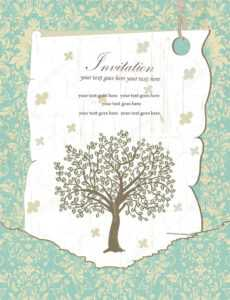 Downloadable Family Reunion Flyer Templates | Family Reunion with Reunion Invitation Card Templates