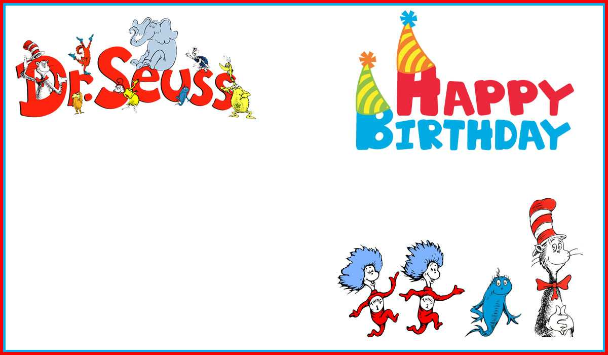 Dr Seuss Free Printable Invitation Templates | Invitations Intended For Dr Seuss Birthday Card Template