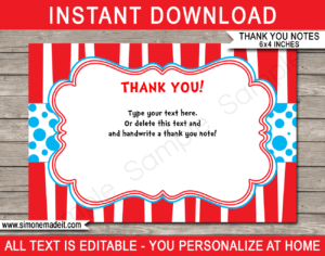 Dr Seuss Party Thank You Cards Template within Dr Seuss Birthday Card Template