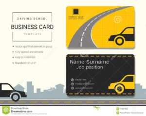 Driving School Business Card Or Name Card Template. Stock with regard to Transport Business Cards Templates Free