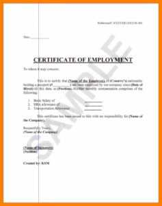 ❤️ Free Printable Certificate Of Employment Form Sample pertaining to Small Certificate Template