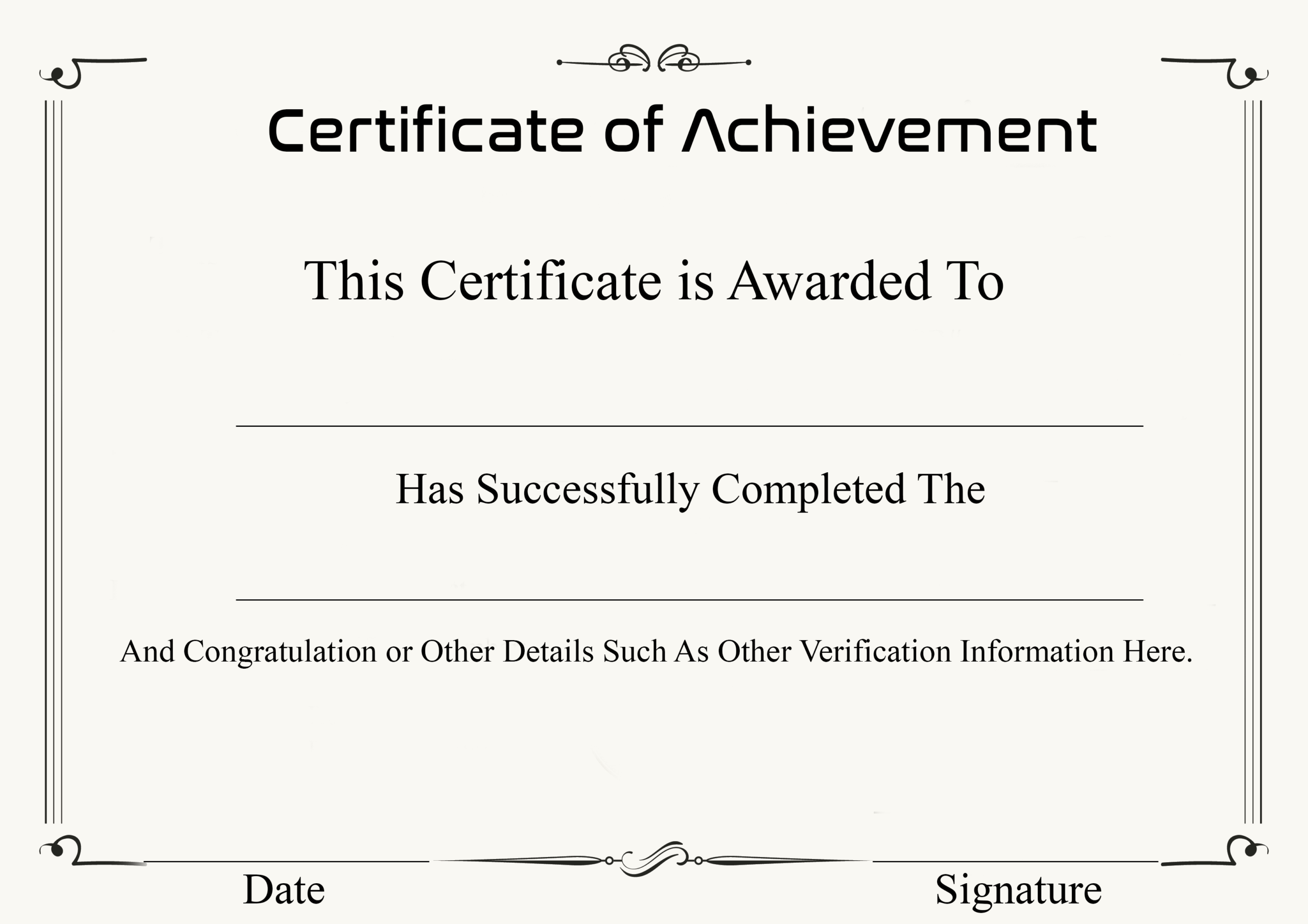 ❤️ Free Sample Certificate Of Achievement Template❤️ In Certificate Of Achievement Army Template