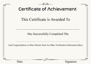 ❤️ Free Sample Certificate Of Achievement Template❤️ intended for Army Certificate Of Achievement Template