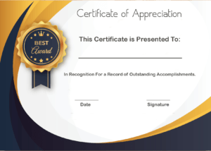 ❤️ Sample Certificate Of Appreciation Form Template❤️ for Volunteer Award Certificate Template