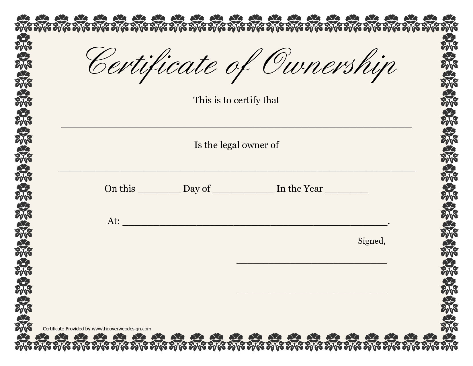❤️5+ Free Sample Of Certificate Of Ownership Form Template❤️ In Certificate Of Ownership Template