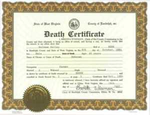 ❤️free Printable Certificate Of Death Sample Templates❤️ within Birth Certificate Fake Template