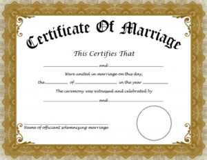 ❤️free Printable Certificate Of Marriage Templates❤️ With Regard To Certificate Of Marriage Template