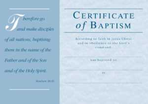 ❤️free Sample Certificate Of Baptism Form Template❤️ intended for Christian Certificate Template