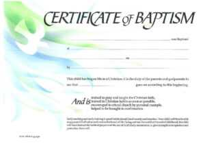 ❤️free Sample Certificate Of Baptism Form Template❤️ throughout Christian Certificate Template