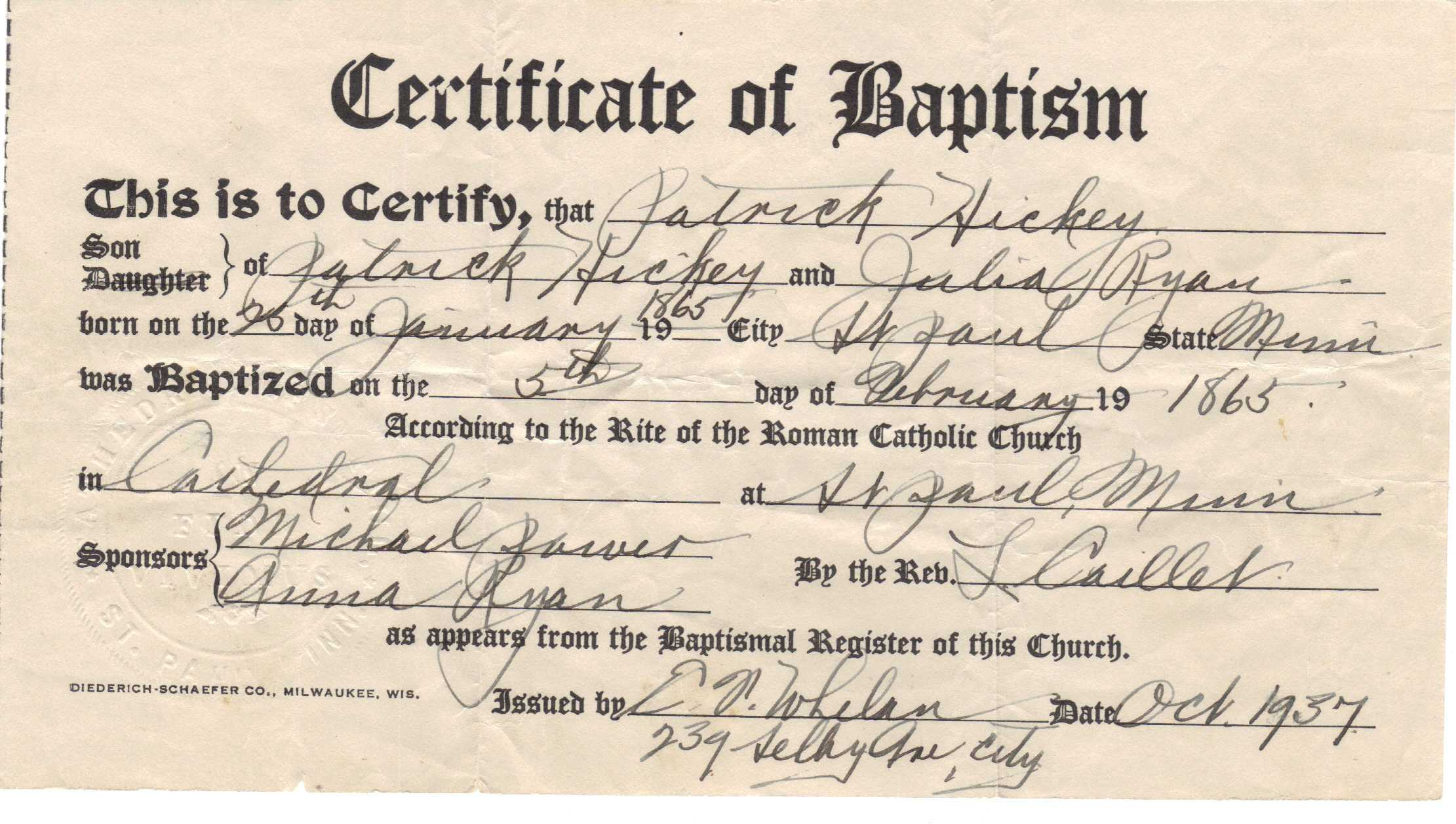 ❤️free Sample Certificate Of Baptism Form Template❤️ Throughout Roman Catholic Baptism Certificate Template