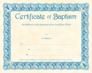❤️free Sample Certificate Of Baptism Form Template❤️ with regard to Christian Certificate Template