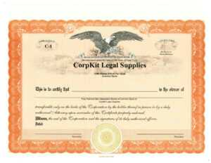 Eagle Non Reflecting Pdf Template with regard to Llc Membership Certificate Template Word