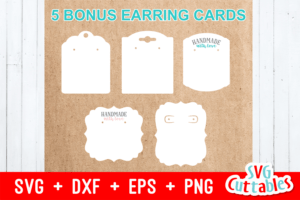 Earring Bundle | Svg Cut Files intended for Free Svg Card Templates