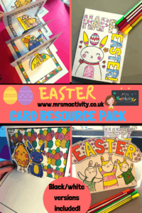 Easter Cards   Mrs Mactivity with Easter Card Template Ks2