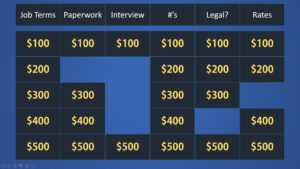 Easy Jeopardy Powerpoint Template (Basic) – Easy Jeopardy inside Jeopardy Powerpoint Template With Score