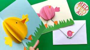 Easy Pop Up Chick Card – 3D Easter Card Diy – Cute & Easy intended for Easter Chick Card Template
