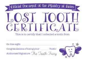 Easy Tooth Fairy Ideas & Tips For Parents / Free Printables intended for Free Tooth Fairy Certificate Template