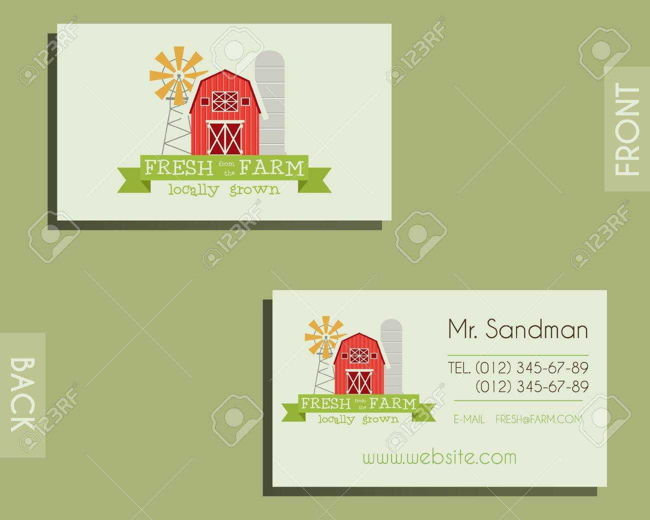 Eco, Organic Visiting Card Template. For Natural Shop, Farm Products And  Other Bio, Organic Business. Ecology Theme. Eco Design. Vector Illustration Intended For Bio Card Template